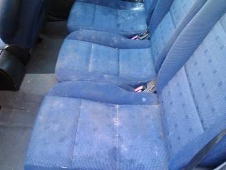 tepování sedadel-před čištěním